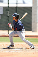 Aaron Siliga of the Cleveland Indians plays in an extended spring training game against the Seattle Mariners at the Indians minor league complex on May 14, 2011  in Goodyear, Arizona. .Photo by:  Bill Mitchell/Four Seam Images.
