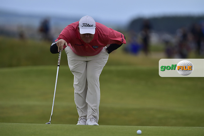 George Coetzee (RSA) at the 12th green during Friday's Round 2 of the 144th Open Championship, St Andrews Old Course, St Andrews, Fife, Scotland. 17/07/2015.<br /> Picture Eoin Clarke, www.golffile.ie