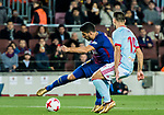 Luis Alberto Suarez Diaz (L) of FC Barcelona is tackled by Jonathan Castro Otto, Jonny, of RC Celta de Vigo during the Copa Del Rey 2017-18 Round of 16 (2nd leg) match between FC Barcelona and RC Celta de Vigo at Camp Nou on 11 January 2018 in Barcelona, Spain. Photo by Vicens Gimenez / Power Sport Images