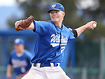 Western Nevada's Chase Kaplan pitches against College of Southern Idaho at WNC in Carson City, Nev. on Friday, Mar. 4, 2016. <br />