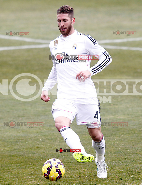 Real Madrid's Sergio Ramos during La Liga match.January 18,2013. (ALTERPHOTOS/Acero) /NortePhoto<br /> NortePhoto.com