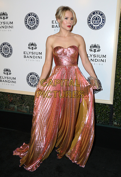 LOS ANGELES, CA - JANUARY 7: Kristen Bell at the The Art Of Elysium Tenth Annual Celebration 'Heaven' Charity Gala at Red Studios i Los Angeles, California on January 7, 2017. <br /> CAP/MPI/PA<br /> &copy;PA/MPI/Capital Pictures