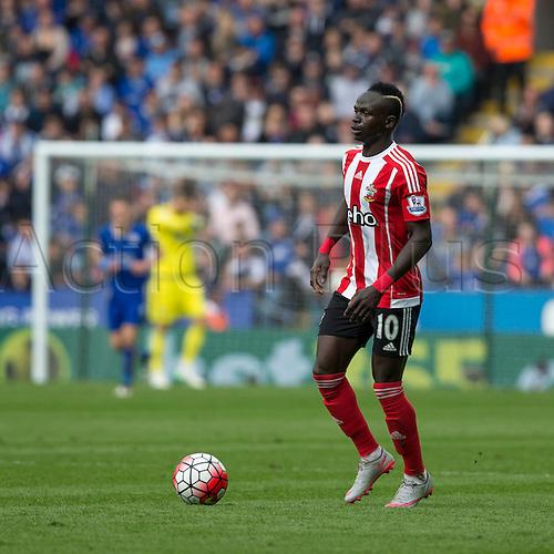 03.04.2016. King Power Stadium, Leicester, England. Barclays Premier League. Leicester versus Southampton. Southampton striker Sadio Mane on the ball.