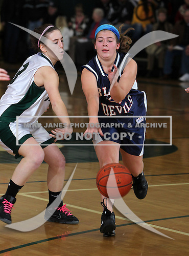 February 1, 2011:  Pioneer Lady Panthers junior varsity basketball against the East Aurora Lady Blue Devils at Pioneer Central School in Yorkshire, New York.  (Copyright Mike Janes Photography)