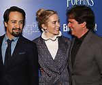 Lin-Manuel Miranda, Emily Blunt,  and Rob Marshall attends a screening of 'Mary Poppins Returns' hosted by The Cinema Society at SVA Theater on December 17, 2018 in New York City.