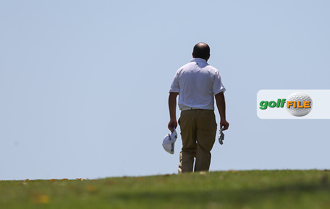 Damien McGrane (IRL) walks over the brow of the hill on the 15th during Round Three of The Africa Open 2014 at the East London Golf Club, Eastern Cape, South Africa. Picture:  David Lloyd / www.golffile.ie