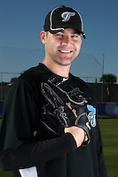 March 1, 2010:  Pitcher Sean Henn (38) of the Toronto Blue Jays poses for a photo during media day at Englebert Complex in Dunedin, FL.  Photo By Mike Janes/Four Seam Images