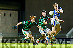 Tommy Walsh Kerin's O'Rahillys in action against Kieran O'Dwyer and Lawrence Bastible St Brendans in the Quarter Final of the Kerry Senior Football Championship at Austin Stack Park on Saturday night
