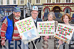 PROTEST: Taking part in the No to the Household Charge protest in Tralee on Saturday l-r; Mike Teahan, William, Annie and Debbie Knight.