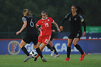 Megan Wynne of Wales Women's' in action during the Women's International Friendly match between Wales and New Zealand at the Cardiff International Sports Stadium in Cardiff, Wales, UK. Tuesday 04 June, 2019
