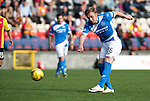 Partick Thistle v St Johnstone&hellip;10.09.16..  Firhill  SPFL<br />Liam Craig has a shot at goal<br />Picture by Graeme Hart.<br />Copyright Perthshire Picture Agency<br />Tel: 01738 623350  Mobile: 07990 594431