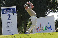 Miguel Angel Jimenez (ESP) during the final day of the  Andalucía Masters at Club de Golf Valderrama, Sotogrande, Spain. .Picture Denise Cleary www.golffile.ie