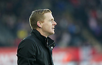 SWANSEA, WALES - FEBRUARY 07: Swansea manager Garry Monk during the Premier League match between Swansea City and Sunderland AFC at Liberty Stadium on February 7, 2015 in Swansea, Wales.