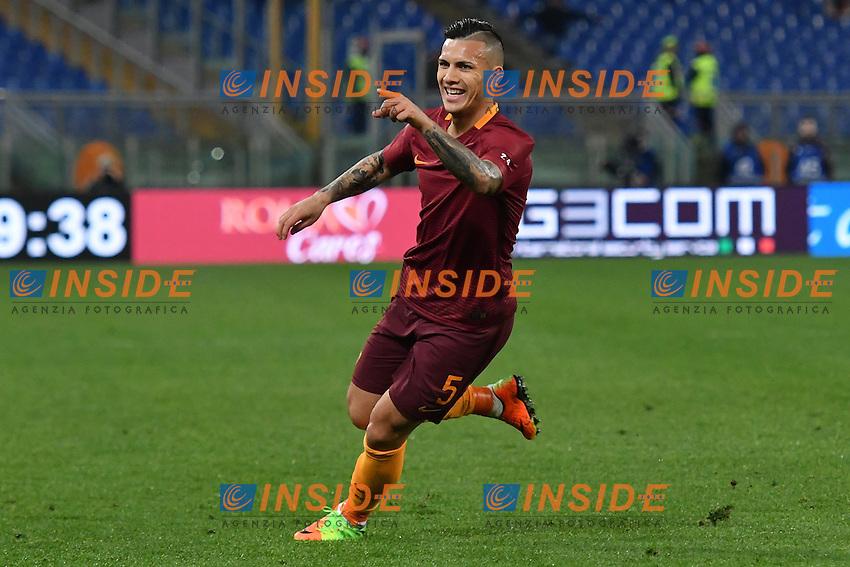 Esultanza Gol Leandro Pares Goal celebration <br /> Roma 18-02-2017 Stadio Olimpico Football Calcio Serie A 2016/2017 <br /> AS Roma - Torino Foto Andrea Staccioli / Insidefoto
