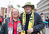 Fans outside of the stadium before the match<br /> <br /> Photographer Simon King/CameraSport<br /> <br /> International Rugby Union - 2017 Under Armour Series Autumn Internationals - Wales v Australia - Saturday 11th November 2017 - Principality Stadium - Cardiff<br /> <br /> World Copyright &copy; 2017 CameraSport. All rights reserved. 43 Linden Ave. Countesthorpe. Leicester. England. LE8 5PG - Tel: +44 (0) 116 277 4147 - admin@camerasport.com - www.camerasport.com