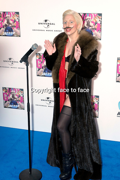 Lady Gaga at the prelistening fan event of her new Album 'Artpop' at Halle Berghain, 24.10.2013, Berlin.<br /> Credit: Boege/face to face