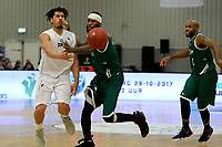 LEEK - Basketbal, Donar - Le Portel, Europe Cup, seizoen 2017-2018, 18-10-2017,  Donar speler Sean Cunningham met Le Portel speler Jakim Donaldson