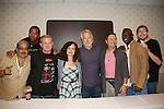 Apache Ramos, Brian Tyler, Thomas G. Waite, Deborah Van Valkenburgh, Michael Beck, Terry Michos, Dorsey Wright - The Warriors & Michael Beckoff for 30 year reunion during Q & A at the Super Megashow & Comic Fest on August 30, 2009 in Secaucus, New Jersey (Photo by Sue Coflin/Max Photos)