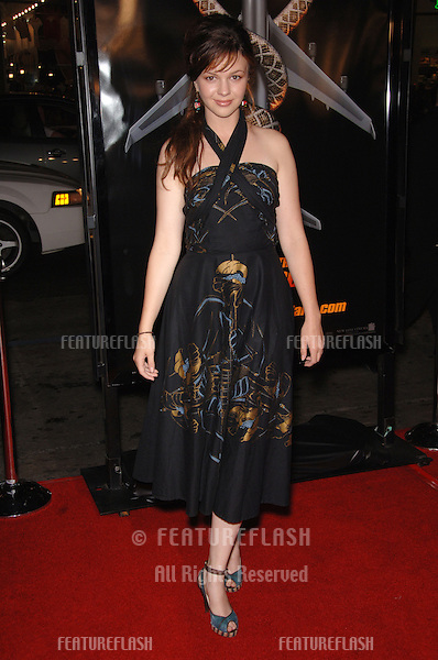 "Actress AMBER TAMBLYN at the Los Angeles premiere of ""Snakes on a Plane"" at the Chinese Theatre, Hollywood..August 17, 2006  Los Angeles, CA.© 2006 Paul Smith / Featureflash"