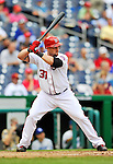 8 September 2011: Washington Nationals outfielder Jonny Gomes in action against the Los Angeles Dodgers at Nationals Park in Washington, DC. The Dodgers defeated the Nationals 7-4 to take the third game of their 4-game series. Mandatory Credit: Ed Wolfstein Photo
