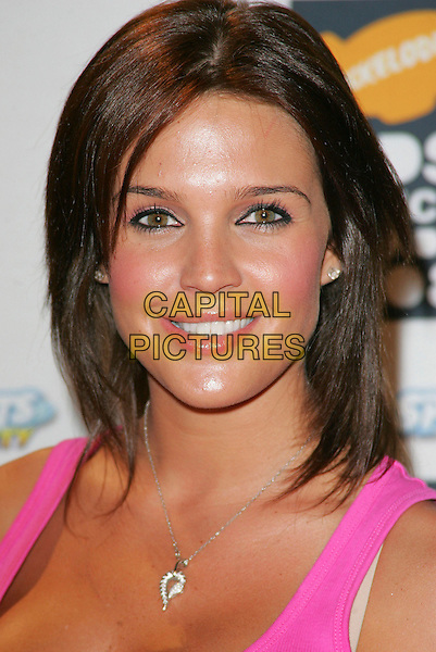 DANIELLE LLOYD .Nickelodeon Kids Choice Awards at the Excel Centre, London, England, September 13th 2008..portrait headshot pink brunette bob hair necklace silver .CAP/ROS.©Steve Ross/Capital Pictures