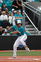 University of Coastal Carolina Chanticleers third baseman Zach Remillard (7) at bat during a game against the University of Virginia Cavaliers at Springs Brooks Stadium on February 21, 2016 in Conway, South Carolina. Coastal Carolina defeated Virginia 5-4. (Robert Gurganus/Four Seam Images)