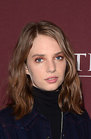 """LOS ANGELES - JAN 16:  Maya Hawke at the PBS Masterpiece """"Little Women"""" TV show panel, Arrivals, TCA Winter Press Tour at the Langham Huntington Hotel on January 16, 2018 in Pasadena, CA"""