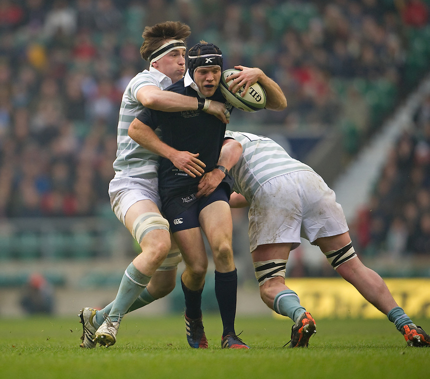 Oxford University's Jonathan Hudson in action during todays Varsity Match  <br /> <br /> Photo by Ashley Western/CameraSport<br /> <br /> Rugby Union - The Varsity Match - Oxford v Cambridge - Thursday 12th December 2013 - Twickenham - London<br /> <br /> &copy; CameraSport - 43 Linden Ave. Countesthorpe. Leicester. England. LE8 5PG - Tel: +44 (0) 116 277 4147 - admin@camerasport.com - www.camerasport.com