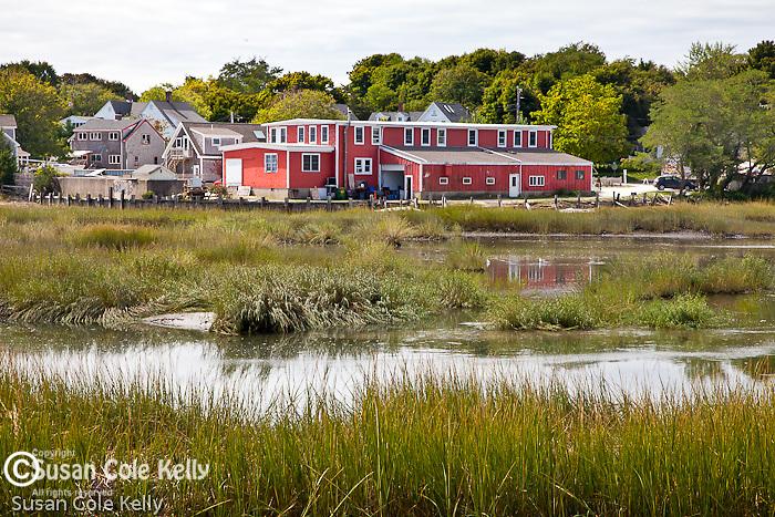 Red gallery on Duck Creek, Wellfleet, Cape Cod, MA, USA