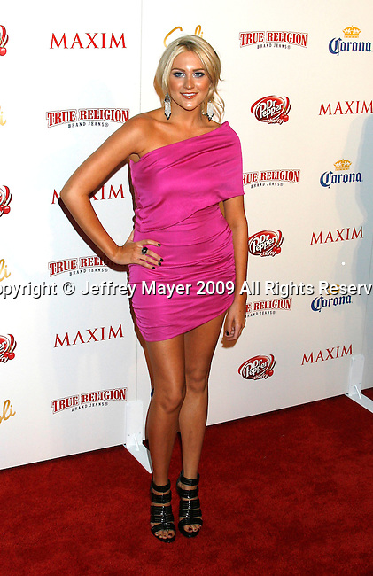 SANTA MONICA, CA. - May 13: Stephanie Pratt arrive at the Maxim's 10th Annual Hot 100 Celebration at The Barker Hangar on May 13, 2009 in Santa Monica, California.