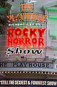 London, UK. 15 September 2015. The Rocky Horror Show, written and starring Richard O'Brien, returns to the West End for a limited run at the Playhouse theatre from 11 September 2015. The Rocky Horror Show Gala Performance on 17 September will be broadcast live to cinemas across the UK and Europe. With Richard O'Brien as Narrator, David Bedella as Frank'n'furter, Ben Forster as Brad, Haley Flaherty as Janet and Dominic Andersen as Rocky. Photo: Bettina Strenske