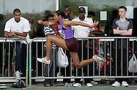 20 MAY 2007 - LOUGHBOROUGH, UK - Denae Matthew - Triple Jump - Loughborough International Athletics. (PHOTO (C) NIGEL FARROW)