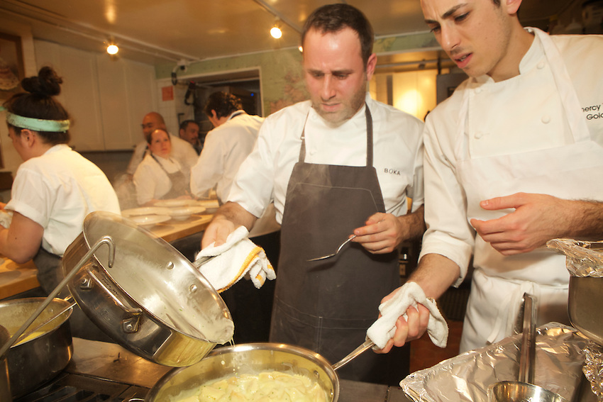 NEW YORK, NY - February 23, 2017: Chef Lee Wolen of Boka in Chicago presents dinner at The James Beard House in Greenwich Village.<br />  <br /> Credit: Clay Williams for The James Beard Foundation.<br /> <br /> &copy; Clay Williams / http://claywilliamsphoto.com