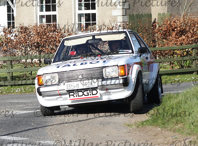 John Coyne - Christy Farrell in a Talbot Sunbeam Lotus at Junction 11 on Special Stage 6 Bucks Head on the Discover Northern Ireland Circuit of Ireland Rally which was a constituent round of  the FIA European Rally Championship, the FIA Junior European Rally Championship, the Clonakilty Irish Tarmac Rally Championship, and the MSA ANICC Northern Ireland Stage Rally Championships which took place on 18.4.14 and 19.4.14 and was based in Belfast.