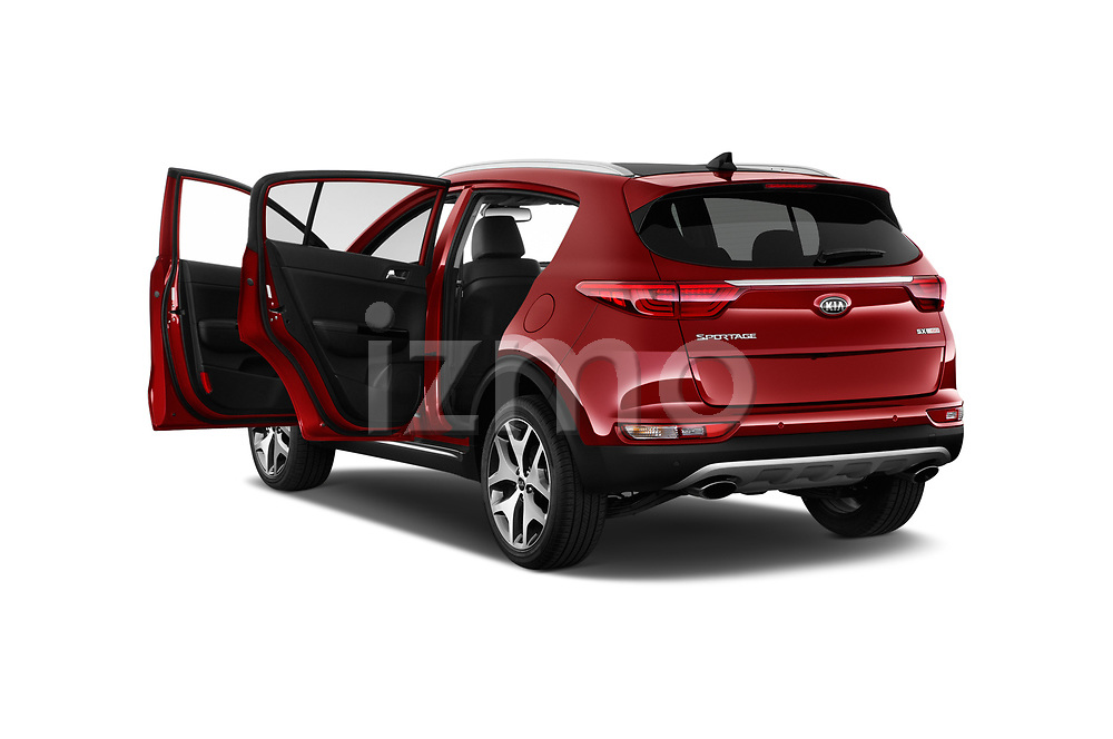 Car images close up view of a 2017 KIA Sportage EX 5 Door SUV doors