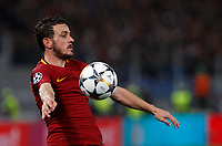 Roma s Alessandro Florenzi controls the ball during the Uefa Champions League round of 16 second leg soccer match between Roma and Shakhtar Donetsk at Rome's Olympic stadium, March 13, 2018. Roma won. 1-0 to join the quarter finals.<br /> UPDATE IMAGES PRESS/Riccardo De Luca