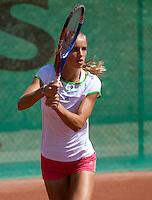 27-05-11, Tennis, France, Paris, Roland Garros ,  Aranxta Rus tijdens de training met haar coach Ralph Kok