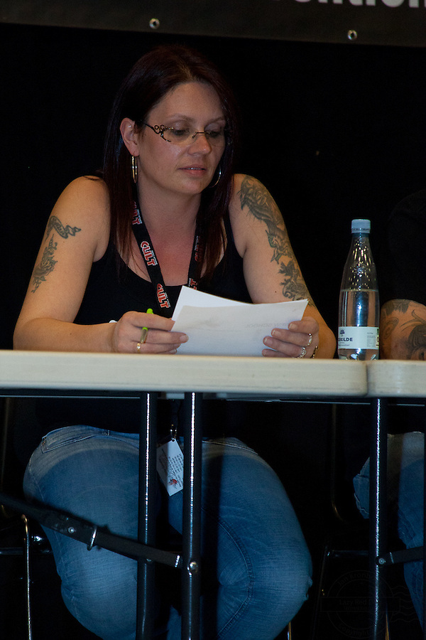 Tattoo Convention in Kolding 2011. Arranged by BodyMod.dk<br /> Dorthe from Skin &amp; Color Tattoo