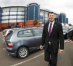 Neil Doncaster leaving Hampden this afternoon