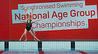 Picture by Allan McKenzie/SWpix.com - 25/11/2017 - Swimming - Swim England Synchronised Swimming National Age Group Championships 2017 - GL1 Leisure Centre, Gloucester, England - Hazel Parke & Laura Benson.