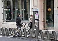Velib bicycles for hire Paris..©shoutpictures.com.john@shoutpictures.com