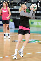 15.09.2012 Silver Ferns Laura Langman in action at training at the Hisense Arena In Melbourne ahead of the first netball test match between the Silver Ferns and Australia. Mandatory Photo Credit ©Michael Bradley.