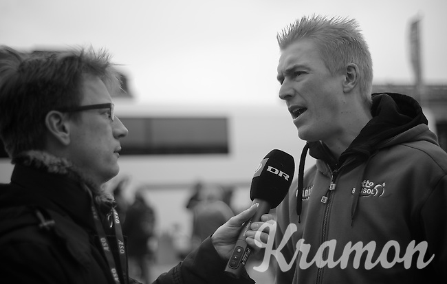 111th Paris-Roubaix 2013..Lars Bak (DNK) interview.