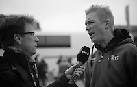 111th Paris-Roubaix 2013..Lars Bak (DNK) interview.
