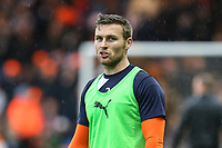 Stephen O'Donnell of Luton Town warms up ahead of the Sky Bet League 2 Play Off Semi Final 2 leg match between Luton Town and Blackpool at Kenilworth Road, Luton, England on 18 May 2017. Photo by David Horn.