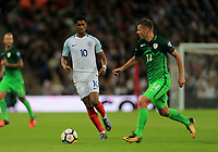 England Marcus Rashford  loses the ball to Slovenia Roman Bezjak during the FIFA World Cup 2018 Qualifying Group F match between England and Slovenia at Wembley Stadium on October 5th 2017 in London, England.<br /> Calcio Inghilterra - Slovenia Qualificazioni Mondiali <br /> Foto Phcimages/Panoramic/insidefoto