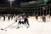 Kasper Björkqvist (PC - 20), Chase Zieky (PC - 14) - The Providence College Friars practiced at Fenway on Friday, January 6, 2017, in Boston, Massachusetts.