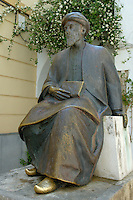 Bronze statue of great Jewish philosopher Moses Maimonides, in the Jewish Quarter of Cordoba, Andalusia, Spain.