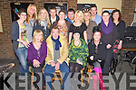 Triona Healy, Killarney, pictured with Julie Healy, Paddy Rod, Kitty Healy, Meave Tangney, Teresa O'Grady, Charlene Hickey, Trish Moloney, Brendan O'Grady, Kieran Fleming, Sheila Dineen, Sheila O'Sullivan, Gearoid Nagle, Siobhan Randles and Catherine Lucey as she celebrated her 30th birthday in Kellys Korner, Killarney on Friday night.....