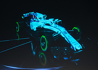 The Williams FW41 during the Williams 2018 F1 Car Launch at Villiage Underground, London, England on 15 February 2018. Photo by Vince  Mignott.